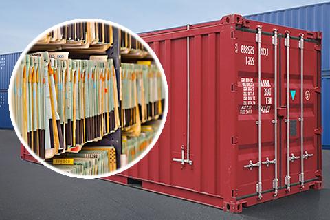Аренда контейнера для хранения документов